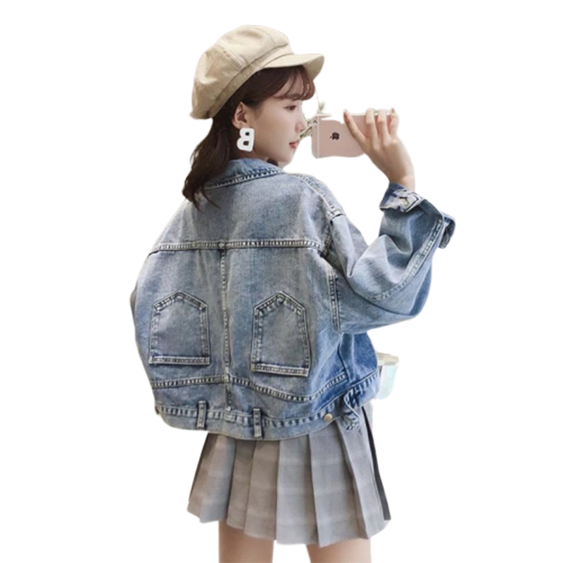 2019 Befree Harajuku Chaqueta Mujer Streetwear Jaket Women Autumn Jean Coats And   Jackets     Basic     Jacket   Bat Sleeved Coat