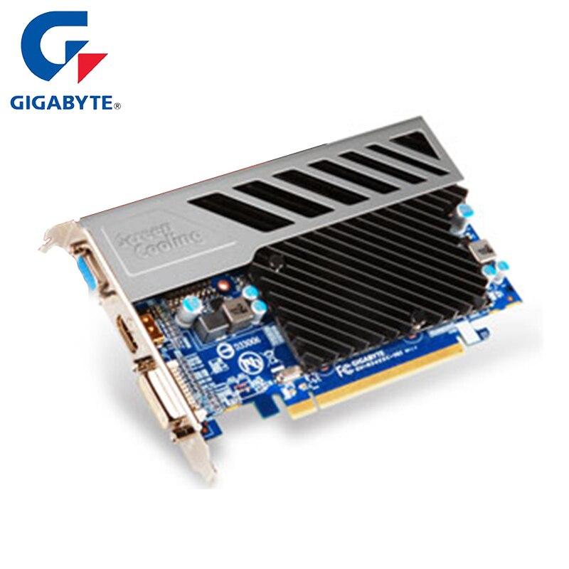 GIGABYTE Graphic Card ATI Radeon AMD GPU HD5450 Gaming Video Card 512MB 64Bit DDR3 VGA/DVI PCIE 2.1 Gaming PC USED Cards