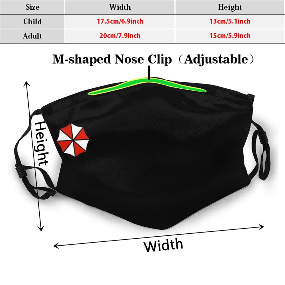 Umbrella Corporation Printed Washable Mouth-Muffle for Running