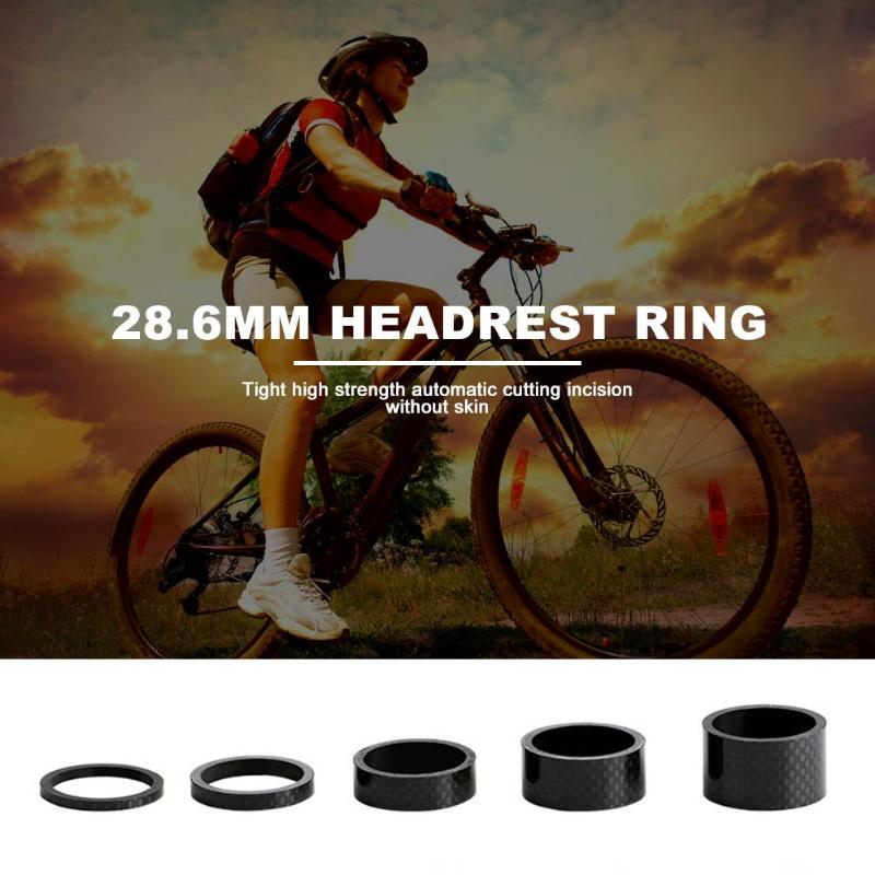 """1//5pcs Stem Washers Carbon 5 Sizes Headset Spacers 1-1//8/"""" MTB Bike Bicycle Fork"""