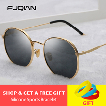 FUQIAN Fashion Round Polarized Sunglasses Women New Stylish Metal Outdoor Men Sun Glasses Pink Shades Sunglass Gafas De Sol