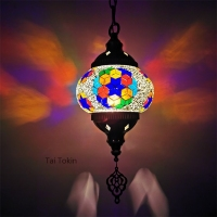 Newest Mediterranean style Art Deco Turkish Mosaic Pendant Lamp Handcrafted mosaic Glass romantic pendant light