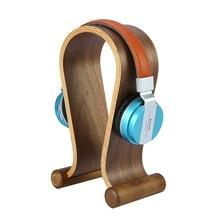 SAMDI cuffie in legno di noce cuffie da gioco cuffie supporto per espositore appendiabiti per cuffie cuffie tablet tablet