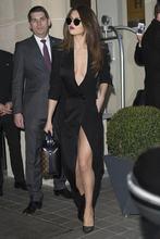 Женское атласное платье с юбкой годе длинное черное в пол v