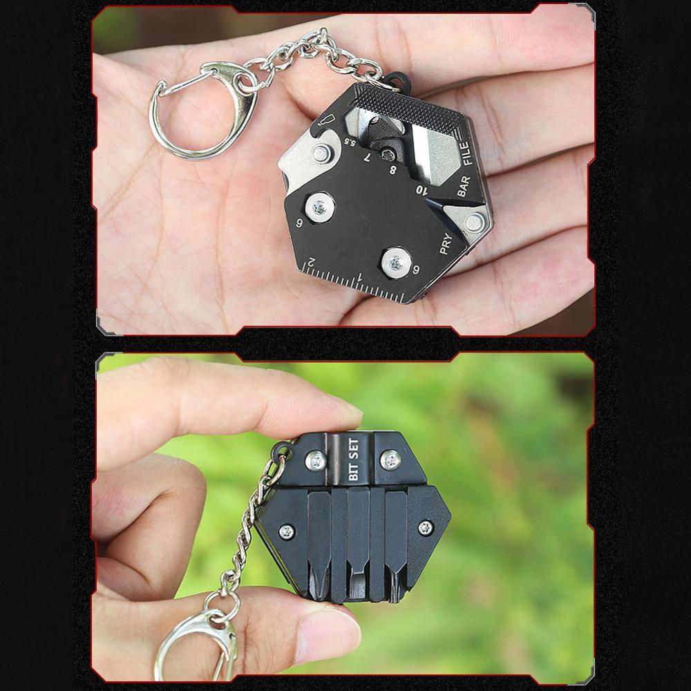 Купить 15 в 1 мини монет отвертка edc уличная портативная мини папка