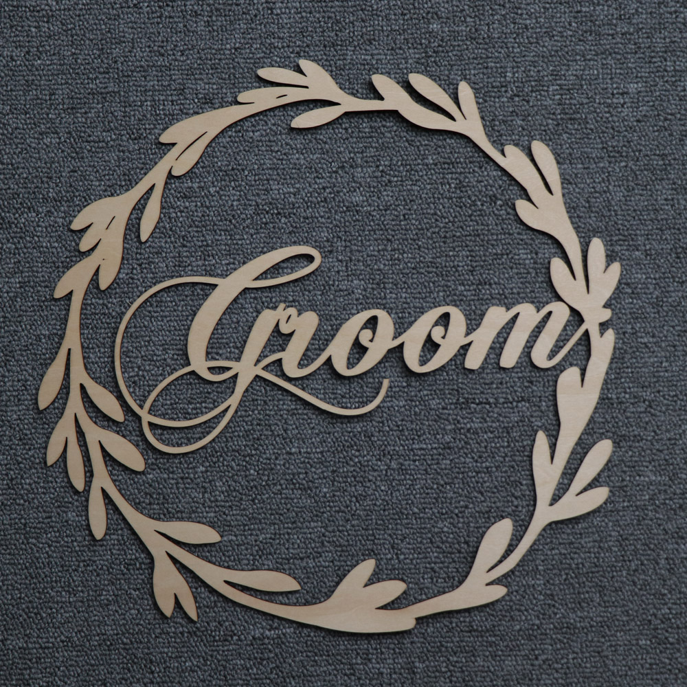 Wood Chair Banner Chairs Sign DIY Wedding Decoration for Engagement Wedding Party Supplies Bride&GroomMr&MrsBetter&Together (20)