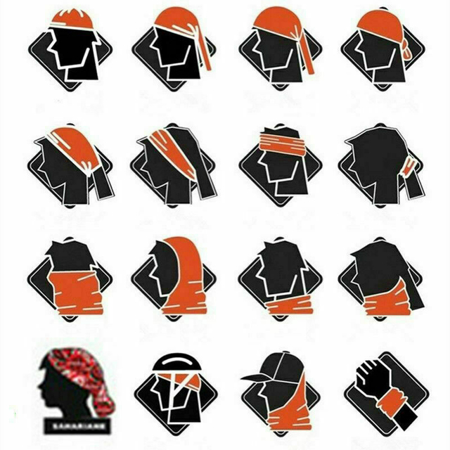 20 color Women Men Outdoor Sports Bandana Scarf Headwear Solid color Face Mask Riding Cycling Headscarf Tube Wristband Headband 5