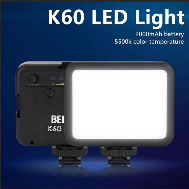 BEIYANG K60 5500K Mini Led Fill Light Portable Camera Lamp Live Video Shooting Ring Light Blogger Photography conference Lamp 1