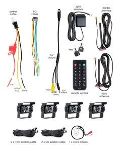 Image 4 - Онлайн 4CH H.264 жесткий диск HDD 4G GPS Wifi Автомобильный регистратор Мобильный Dvr комплект с 4 шт. наружной автомобильной камеры водонепроницаемый для автобуса такси фургона