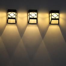 1 Pza luz Solar impermeable lámpara Solar exterior Sensor de movimiento PIR luz de pared impermeable Solar alimentada luz Solar para la decoración del jardín