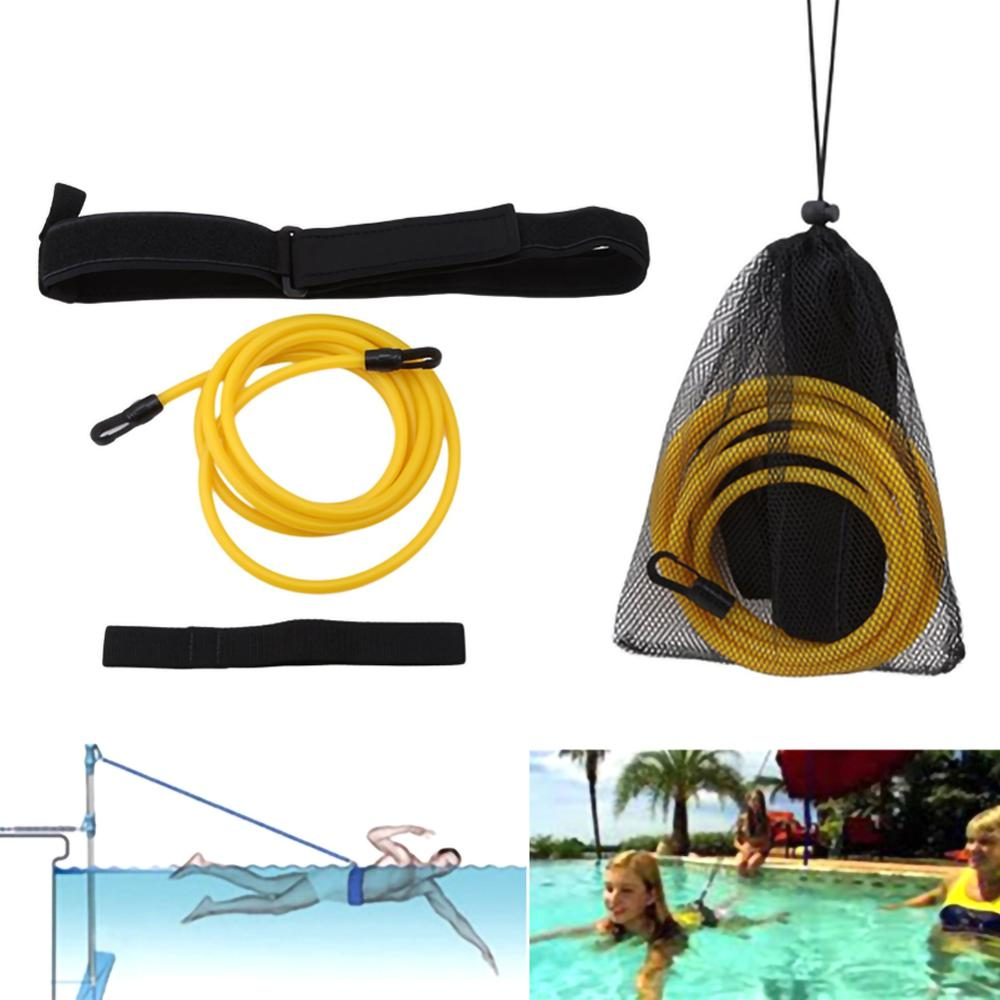 Swimming Training Belt Water Trainer Traction Belt Adjustable Swimming Pool Bungee Safety Resistance Belt Universal