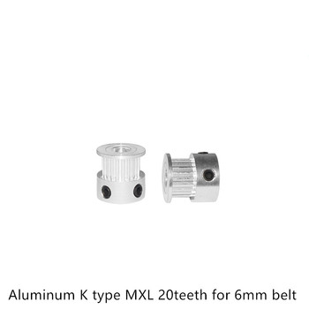 MXL Timing Pulley 20 teeth Bore 4mm 5mm 6.35mm 8mm for width 6mm 10mm Synchronous Belt Small backlash 20Teeth image