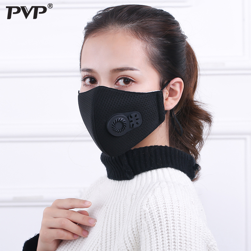 1Pcs PM2 5 Pollution Mask Anti Air Dust and Smoke Pollution Mask with Earloop and Air Valve Washable Respirator Mask Made in Masks from Beauty Health