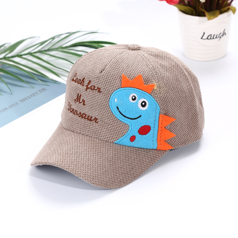 H79d04ee20e1b4cdd98c05d9ef6312783c - Spring Autumn Baby Baseball Cap Cartoon Dinosaur Baby Boys Caps Fashion Toddler Infant Hat Children Kids Baseball Cap