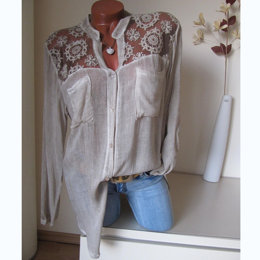 women blouses vintage womens long sleeve shirts gothic korean fashion clothing white blouse lace top boho clothes fashion 2020