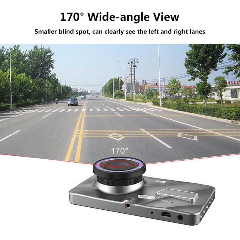 ダッシュカム新デュアルレンズ車 DVR カメラフル Hd 1080P IPS スクリーンフロント + リアカメラビデオレジストラ G センサーナイトビジョン Dashcam