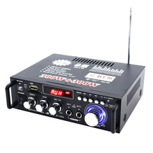 600W DC12V AC220V Car Amplifier Mini HiFi Stereo Audio Power Amplifier with Digi