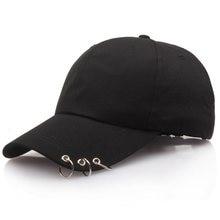 New Iron Ring Cap Women's Cap Fashion GD KPOP Live The Wings Tour Hat Bangtan Boys Ring Adjustable Baseball Cap for Men 3 Colors