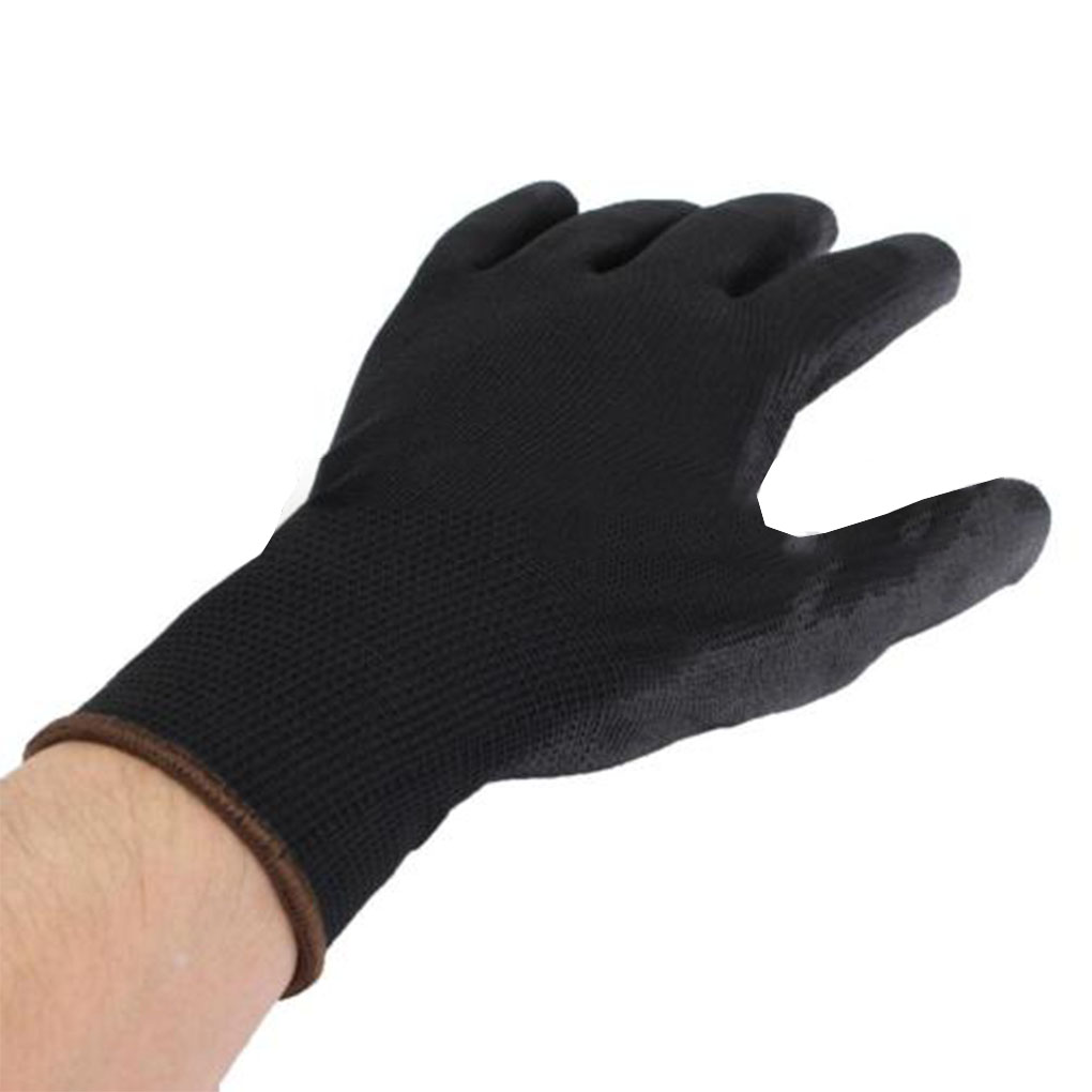 Finger Protection Antistatic Gloves Anti-Static Electronic Working Gloves PU Nylon Palm Coated Finger PC Glove