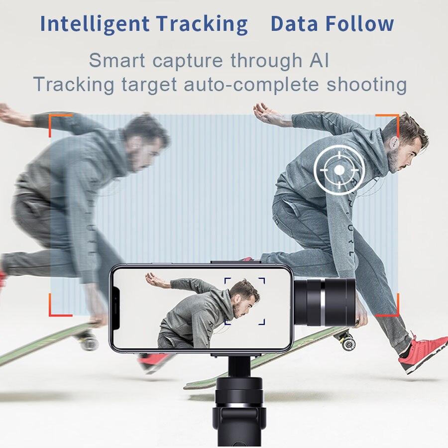 Funsnap 3-Achse Stabilisator 3 Combo Handheld Smartphone Gimbal Stabilisator für iPhone GoPro 7 6 5 sjcam EKEN Yi action kamera