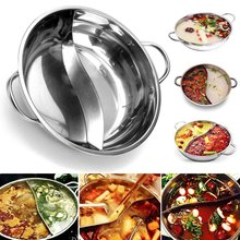 Pot Cookware Gas-Stove Induction-Cooker Soup Hot-Pot Twin-Divided Chinese Kitchen Compatible