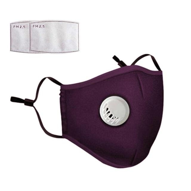 Safety Dust Mask+2 Filters Easy Breathe Reusable Washable Face Mask Anti Virus Gardening Travel PM2.5 Mask 1