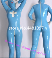 Latex Rubber Bodysuits with Hoods Mask Latex Rubber Full Bodysuits Black Zip Sexy Costume Cosplay zentai exotic apparel
