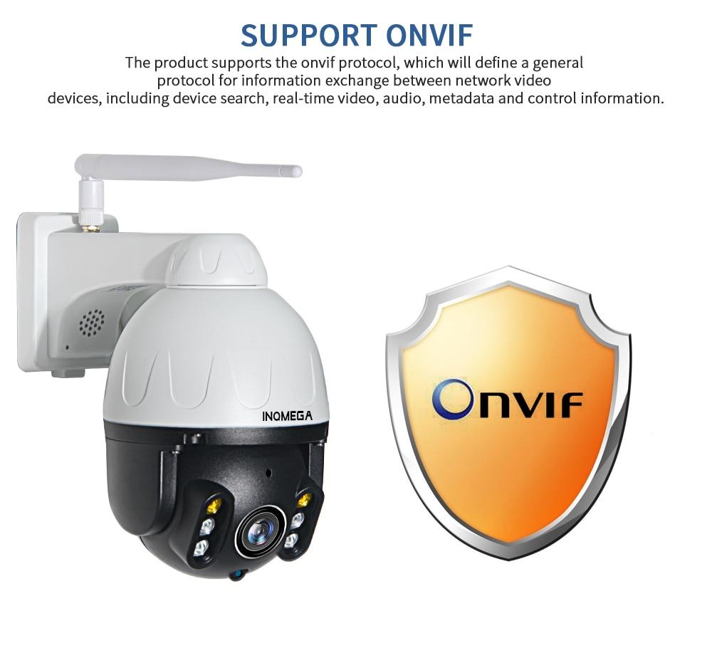 H79d0b4a8b6294707b1983dc8cd5165085 INQMEGA Cloud 1080P Outdoor PTZ IP Camera WIFI Speed Dome Auto Tracking Camera 4X Digital Zoom 2MP Onvif IR CCTV Security Camera