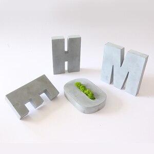 Image 4 - Большая силиконовая форма для цемента с буквами, декоративная форма с буквами алфавита, креативная офисная форма для книг 16*3 см