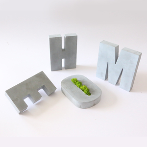 Image 4 - Grande letra de concreto molde de silicone cimento alfabeto decoração molde criativo escritório bookends molde 16*3cm