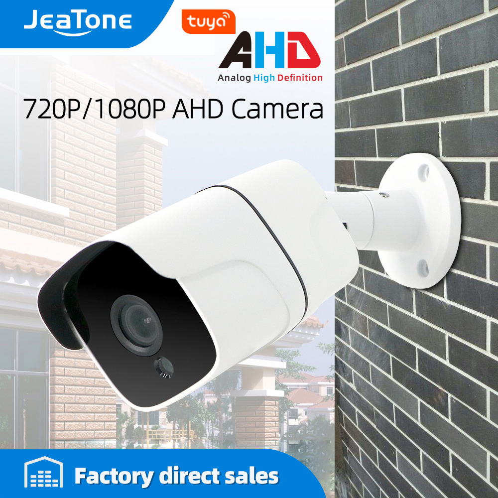 JeaTone 720/1080P AHD Security Camera Video Surveillance Outdoor Waterproof Security Camera White Color 15M IR Night Vision