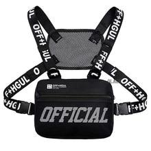 Moda streetwear homens hip-hop saco de peito tático duas cintas sacos de equipamento de peito na moda estilo retângulo peito utilitário pacote g122