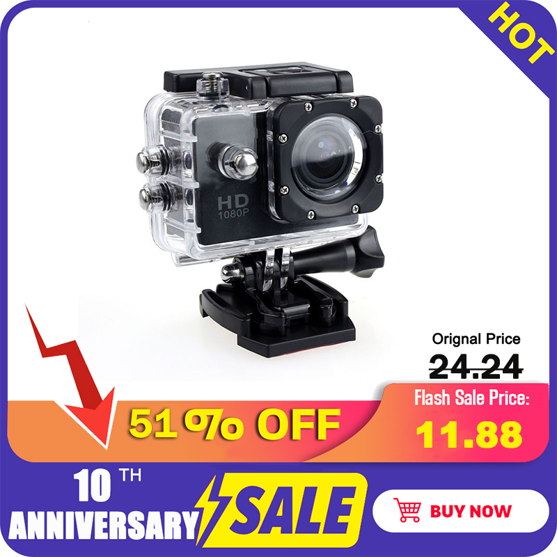 Underwater Camera Action Outdoor Sport Mini Camera Waterproof Cam Screen Color Water Resistant Video Surveillance