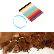 12Pcs/Set Pet Collars Different Colors Soft Identification Mark For Cats Dogs Puppies