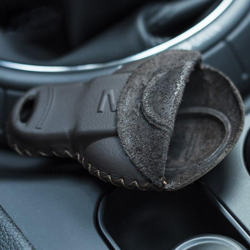 Купить кожаный чехол для ключей брелока автомобиля mini cooper s f54
