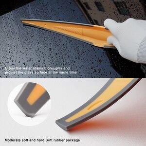 Image 4 - FOSHIO Lange Weiche Gummi Rakel Carbon Faser Film Auto Vinyl Verpackung Schaber Glas Fenster Tönung Reinigung Werkzeug Wasser Entferner