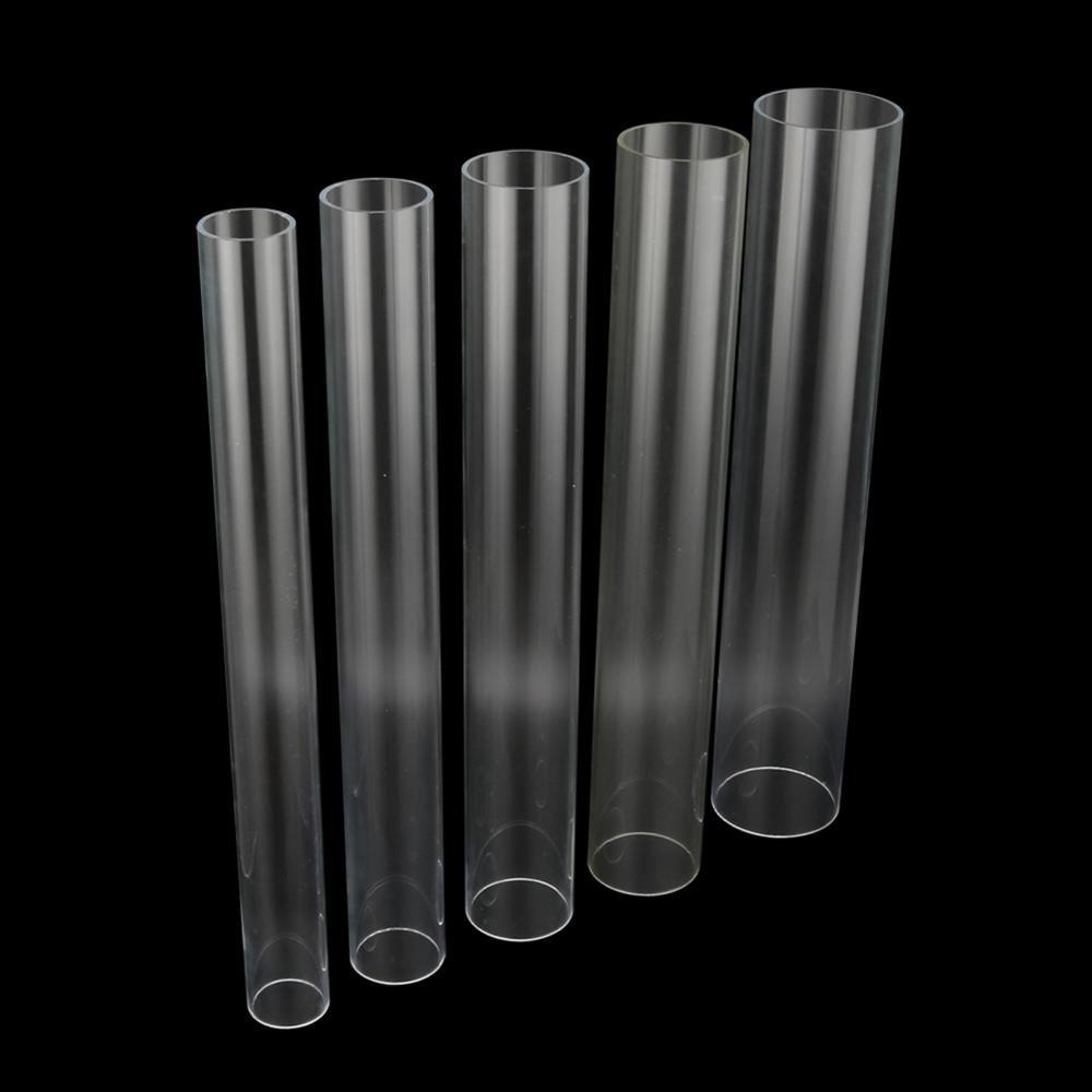 1000MM LONG CLEAR ACRYLIC PERSPEX PIPE TUBE HOLLOW 12MM X 10MM DIAMETER 50MM
