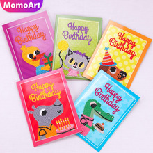 Huacan Diy Diamond Painting Cartoon Birthday Card Embroidery Childrens Handmade Hobby Greetings
