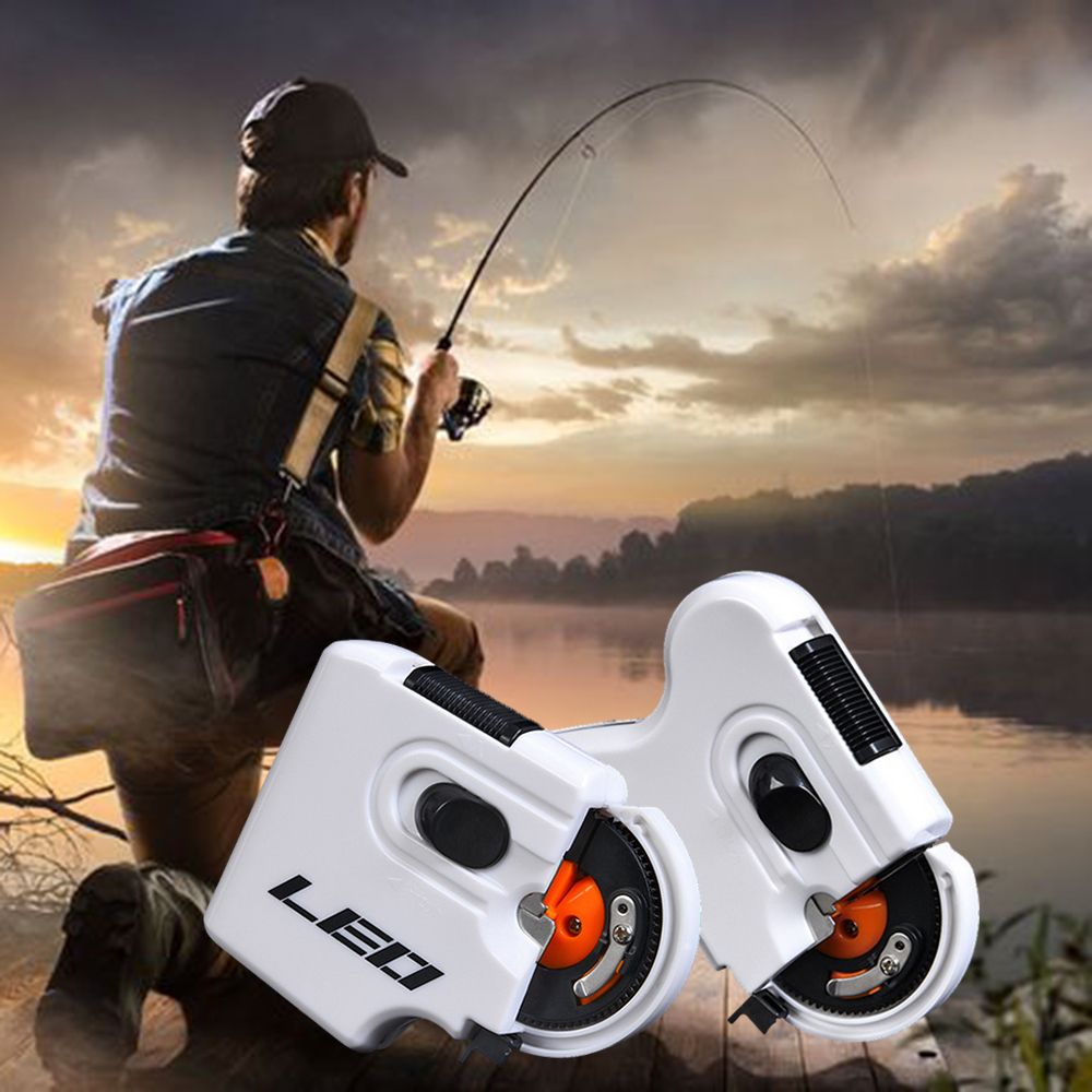 1PC LEO New Portable Electric Fishing Hook Machine Fishing Amine From Fishing Fast Line Binding Equipment Accessories