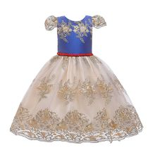 Kids Girls Short Sleeve Cutout Backless Floral Lace Applique Pageant Dress Gown cutout design patchwork random floral embroidered dress in black