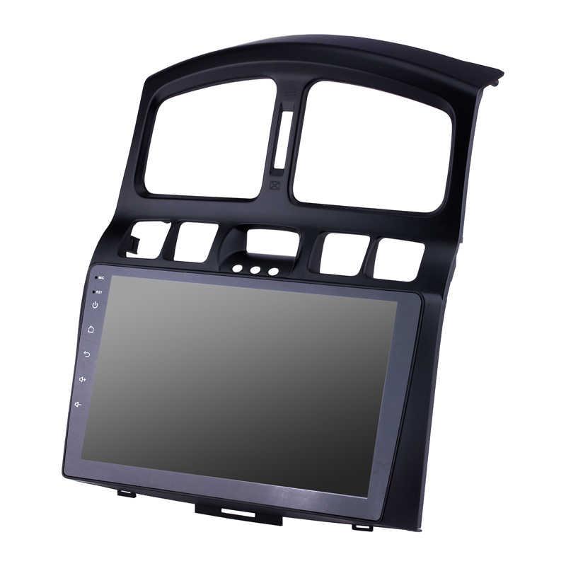 Fit voor Hyundai Santa Fe IX45 2005-2015 auto GPS Bluetooth Radio Android 8.1 4-core CPU 2.5D gehard explosieveilige HD scherm