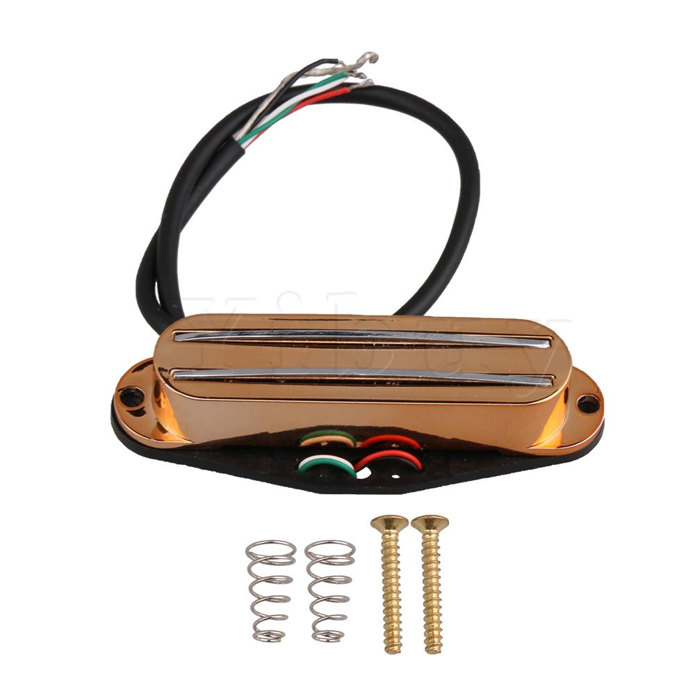 Yibuy Guitar Pickup Double Coil Humbucker Pickup W/ Screws Spring Rose Gold