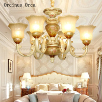 European color painted white ceramic chandelier living room dining room bedroom French luxury creative retro led Chandelier