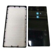 حافظة أصلية لهاتف شاومي Mi Mix/MiMix Pro إصدار 18K مقاس 6.4 بوصة من السيراميك إطار الحافة الوسطى + إطار بطارية خلفي قطع غيار