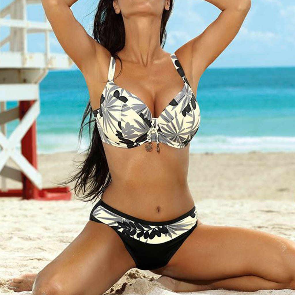 Áo Bikini Mùa Hè 2020 Mới Gợi Cảm Băng Bikini Bộ Lớn Cup Push Up Đồ Bơi Brasil Bãi Biển Áo Tắm Trang Sức Giọt Z0109