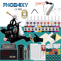 Beginner Tattoo Kit Tattoo Machine Set 60ml Black Inks Pigment Power Supply Tattoo Needles For Complete Tattoo Accessories Set