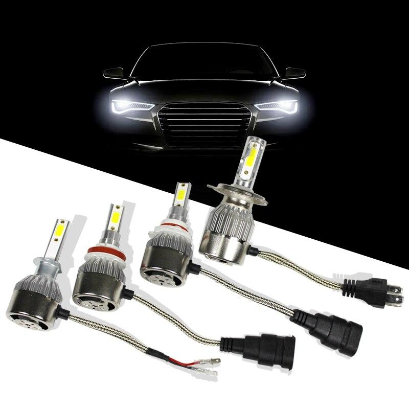 H 1 3 4 7 9 11 9005 9006 LED Cars Bulb 36W Waterproof 6000K Headlight Bulbs Lamp Cars Styling Light 12V 24V Automotivo
