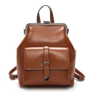 Image 5 - LEFTSIDE marque 2018 rétro moraillon sac à dos sacs en cuir PU sac à dos femmes sacs décole pour adolescents filles de luxe petits sacs à dos