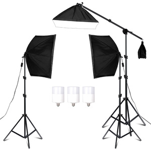 Image 1 - Photography Studio Softbox Lighting Kit Arm for Video & YouTube Continuous Lighting Professional Lighting Set Photo Studio