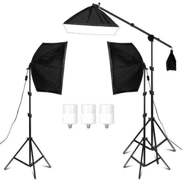 สตูดิโอถ่ายภาพSoftbox Lighting KitสำหรับVideoและYouTubeแสงต่อเนื่องระดับมืออาชีพชุดPhoto Studio